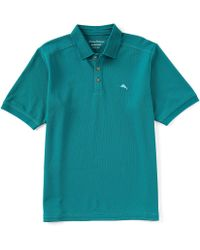 32026f1bc92d98 Lyst - Tommy Bahama The Emfielder Polo Shirt in Black for Men