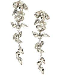 Belle By Badgley Mischka - Faux-crystal Cascade Earrings - Lyst