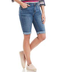 Jones New York Lexington Stretch Denim Bermuda Shorts