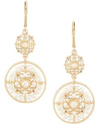 Anne Klein - Pearl Drop Earrings - Lyst