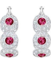 Swarovski - Angelic Hoop Pierced Earrings - Lyst
