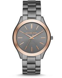 Michael Kors | Slim Runway Analog Bracelet Watch | Lyst