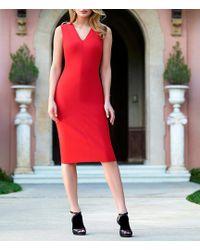 Antonio Melani - Bria Sleeveless Sold Sheath Dress - Lyst