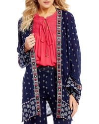 Banjara - Embroiderd Long Sleeve Kimono - Lyst
