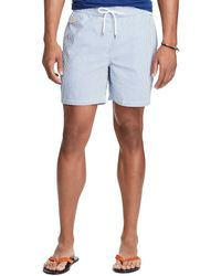 ae008342c0 Ralph Lauren Polo Traveler Anchor Print Swim Shorts in Blue for Men - Lyst