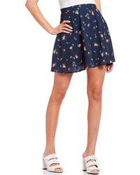 194c8066a262 Gianni Bini Rachel Genuine Leather Mini Skirt in Black - Lyst