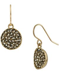 Kenneth Cole - Pavé Disc Drop Earrings - Lyst