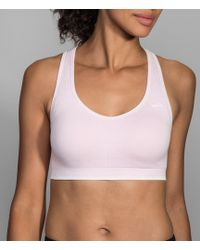 Brooks - Just Right Seamless Racerback Sports Bra - Lyst