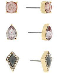 Jessica Simpson - Stud Earring Set - Lyst