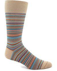 Johnston & Murphy - Mini-stripe Dress Sock - Lyst