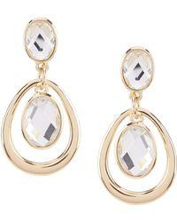 Dillard's - Faceted Stone Orbital Earrings - Lyst