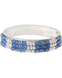Kenneth Cole - Beaded Hinge Bangle Bracelet - Lyst