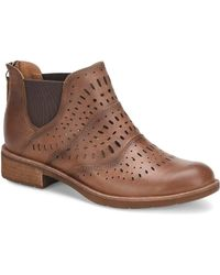 Söfft - Brenley Laser Perforated Leather Chelsea Booties - Lyst