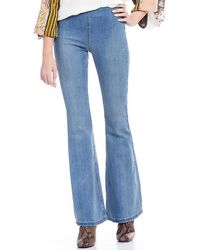 Free People - We The Free Gummy Flare Leg Pull-on Jeans - Lyst