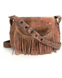 Bed Stu - East End Fringe Saddle Bag - Lyst