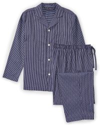 Hart Schaffner Marx - Striped Pajama Set - Lyst