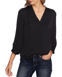 Vince Camuto - Rumple 3/4 Sleeved V-neck Blouse - Lyst