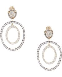 Nadri - Pave Frontal Hoop Earrings - Lyst