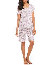 Karen Neuburger - Flroal-print Bermuda Pajama Set - Lyst