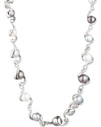 Carolee - Pearl Ribbon Necklace - Lyst
