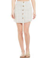 Blu Pepper - Windowpane Print Coordinating Mini Skirt - Lyst