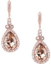Givenchy - Crystal Pav Pear Drop Statement Earrings - Lyst