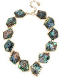 Robert Lee Morris - Geometric Abalone Stone Collar Statement Necklace - Lyst