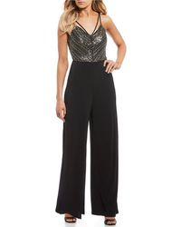 As U Wish - Sequin-embellished Bodice Jumpsuit - Lyst