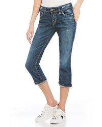 Silver Jeans Co. - Elyse Roll-cuff Capri Jeans - Lyst