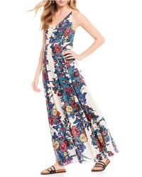 Free People - Through The Vine Floral Print Maxi Dress - Lyst