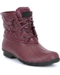 Sperry Top-Sider - Saltwater Quilted Luxe Duck Rain Boots - Lyst