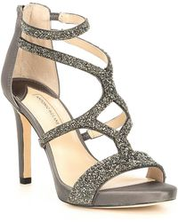 651c63072 Antonio Melani - Karalina Crystal Satin Criss Cross Platform Dress Sandals  - Lyst