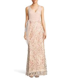 Adrianna Papell - Petal Tulle Gown - Lyst