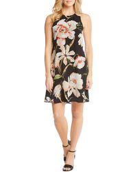 Karen Kane - Chiffon Floral Print Blooms A-line Dress - Lyst