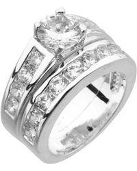 Dillard's - Dillard S Boxed Collection Cubic Zirconia Engagement Ring & Wedding Band Set - Lyst