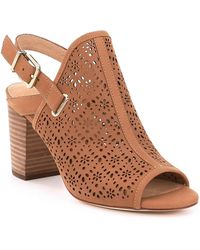 Antonio Melani - Laycee Laser Perforated Block Heel Sandals - Lyst