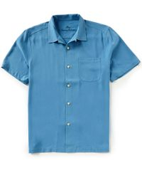 Tommy Bahama - Big & Tall Catalina Twill Short-sleeve Woven Shirt - Lyst