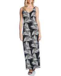 Karen Kane - Sleeveless Palm - Print Maxi Dress - Lyst
