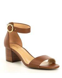 e5fd52b3be14 MICHAEL Michael Kors - Lena Flex Block Heel Sandals - Lyst