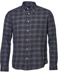North 56'4 - Big & Tall Check Flannel Long-sleeve Woven Shirt - Lyst