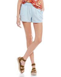 Jolt - Chambray Shorts - Lyst