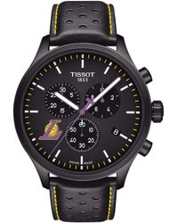 Tissot - Chrono Xl Nba Los Angeles Lakers Chronograph Leather-strap Watch - Lyst