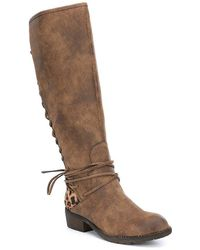 Volatile | Marcel Lace Up Leopard Print Detail Tall Boots | Lyst