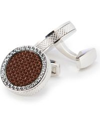 Murano - Coffee Carbon Cuff Links - Lyst