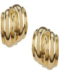 Anne Klein - Button Clip-on Earrings - Lyst