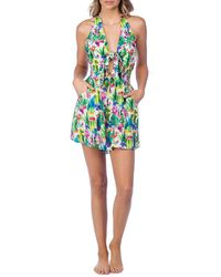 Nanette Lepore - Cactus Romper Swimsuit Cover-up - Lyst