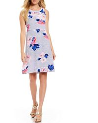 Joules - Ava Woven Floral Printed Sleeveless Dress - Lyst