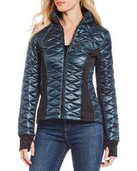 Guess - Iridescent Puffer Jacket - Lyst