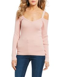 Guess - Maisi Cold-shoulder Sweater - Lyst