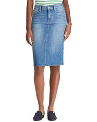 1b10606bffe Lyst - Lauren by Ralph Lauren Stretch Pencil Skirt in Black